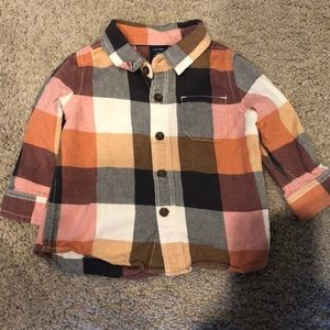 Baby gap button down flannel shirt